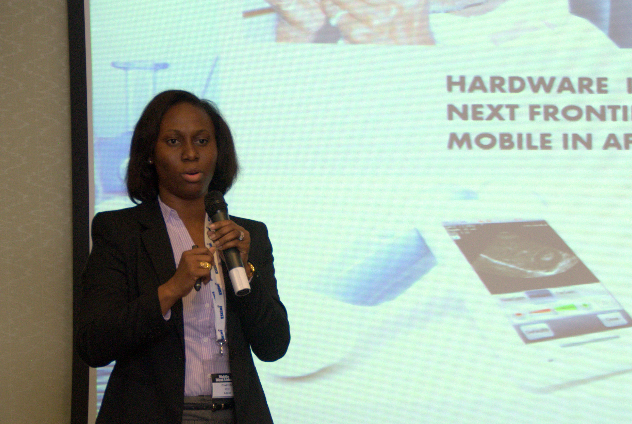Ethel Cofie Speaking at Mobile West Africa